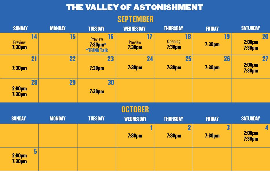 Valley Performance Calendar