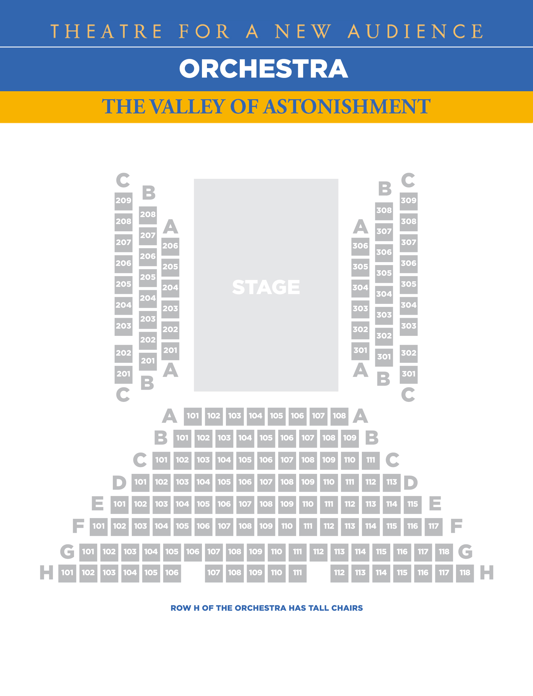 Seating Charts Theatre For A New Audience
