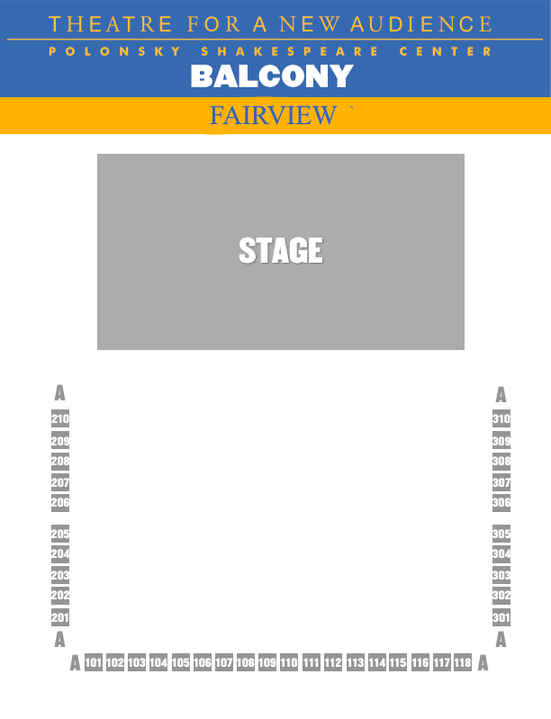 Fairview SEATING CHART - BALCONY