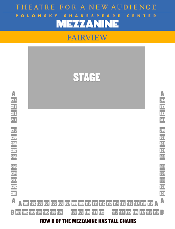 Fairview SEATING CHART - MEZZ