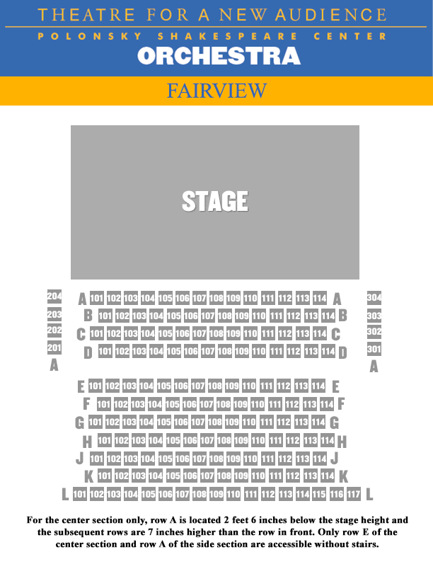 Fairview SEATING CHART - ORCH
