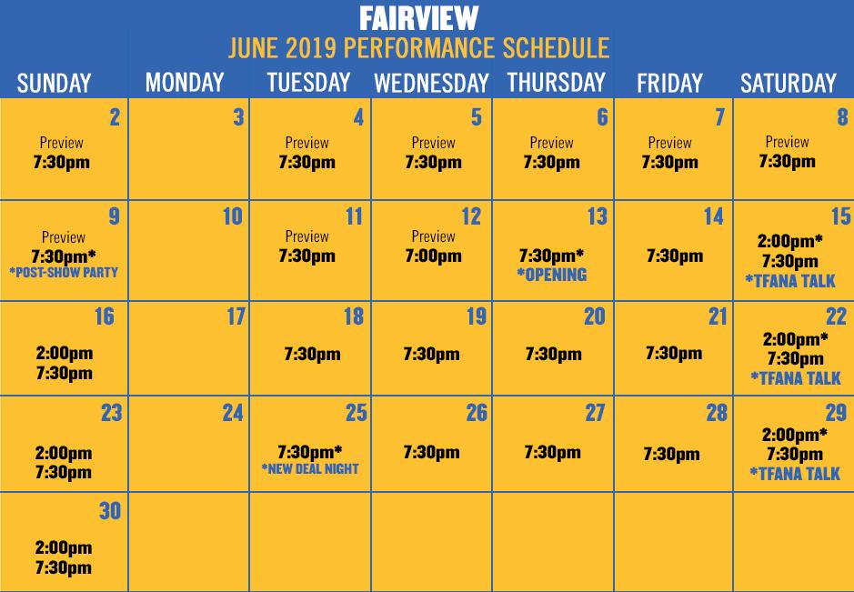Fairview June Calendar