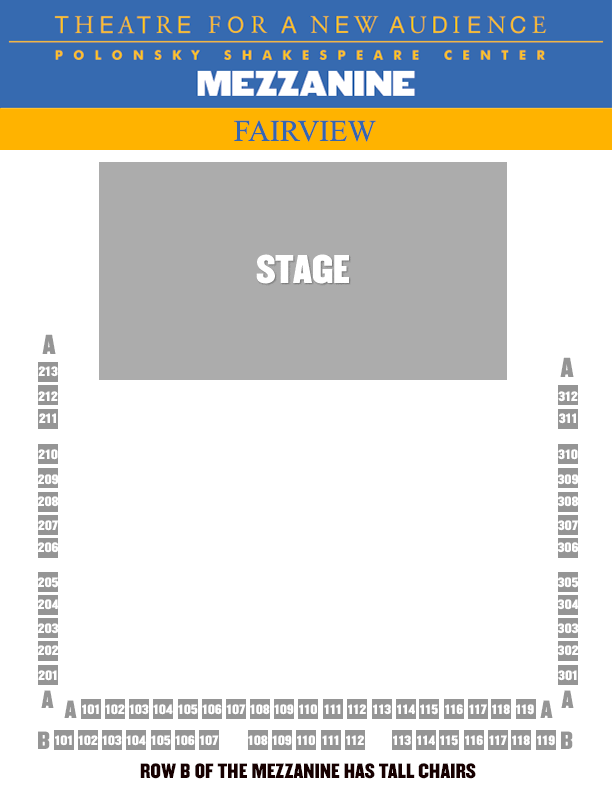airview SEATING CHART - MEZZ