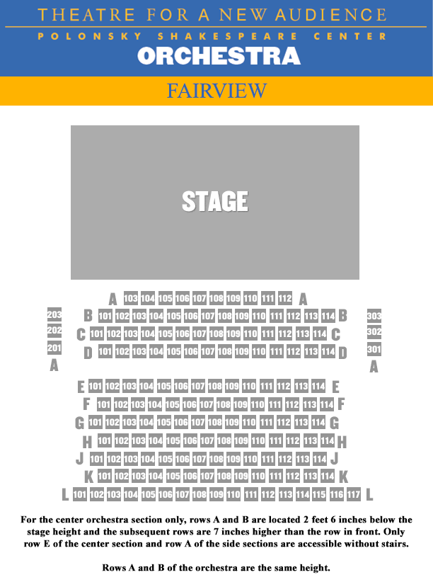 airview SEATING CHART - ORCH