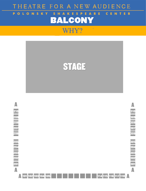 Why SEATING CHART - BALCONY
