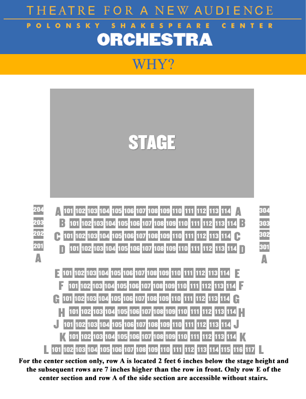 Why SEATING CHART - ORCHESTRA