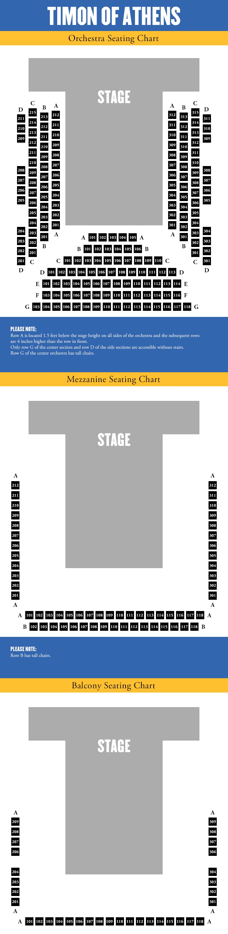 Timon Seating Chart. Click here to buy tickets and view an interactive/accessible seating chart.